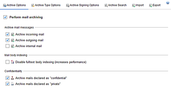 Screenshot Exchange Server Toolbox shows archive settings